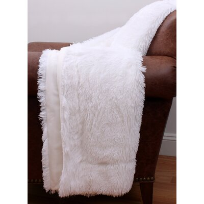 Catlin Fur Decorative Throw Color: Bright White