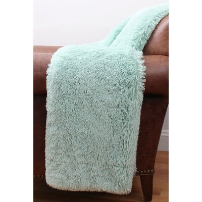 Catlin Fur Decorative Throw Color: Harbor Gray