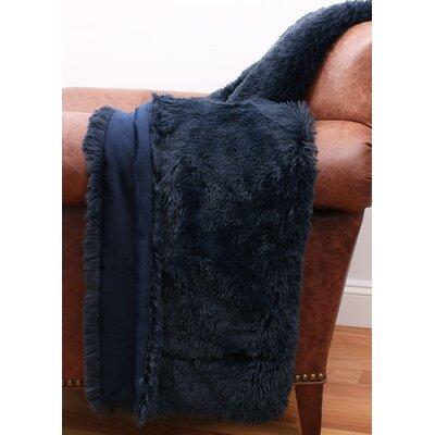 Catlin Fur Decorative Throw Color: Navy Blazer