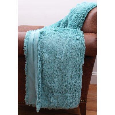 Catlin Fur Decorative Throw Color: Nile Blue