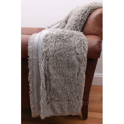 Catlin Fur Decorative Throw Color: Silver