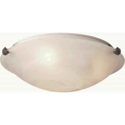 Caudill Flush Mount - Marble Glass Shade Size / Finish: 5 H x 16 W / Desert Stone