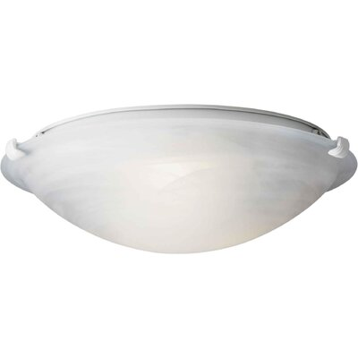 Caudill Flush Mount - Marble Glass Shade Size / Finish: 5 H x 16 W / White