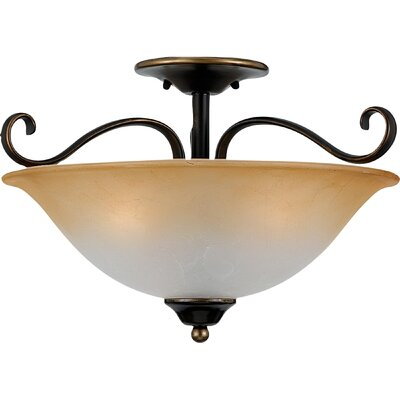 Alluvial 3-Light Semi Flush Mount Finish: Polished Bronze