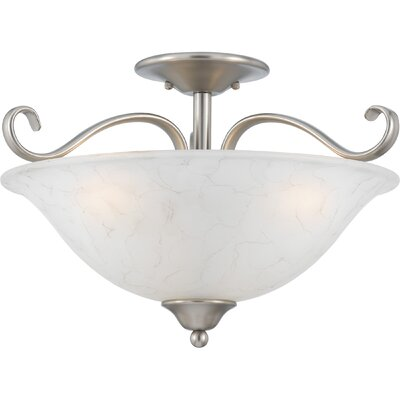 Alluvial 3-Light Semi Flush Mount Finish: Antique Nickel