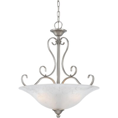 Alluvial 4-Light Inverted Pendant Finish: Antique Nickel