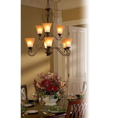 Alluvial 9-Light Shaded Chandelier Finish: Palladian Bronze