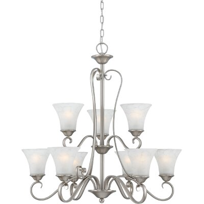 Alluvial 9-Light Shaded Chandelier Finish: Antique Nickel