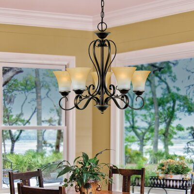 Alluvial 5-Light Shaded Chandelier Finish: Palladian Bronze