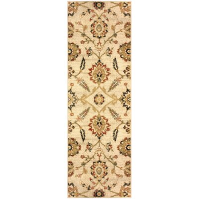 Burbank Cream Area Rug Rug Size: Runner 27 x 8