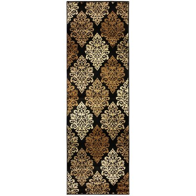 Burbank Black Area Rug Rug Size: Runner 27 x 8