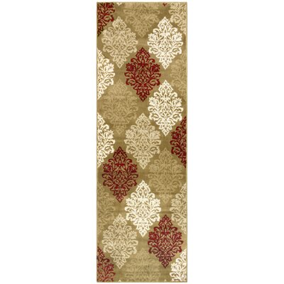 Burbank Brown Area Rug Rug Size: Runner 27 x 8
