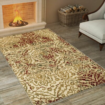 Bunyard Cream Area Rug Rug Size: Rectangle 8 x 10