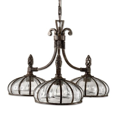 Lorie 3-Light Shaded Chandelier