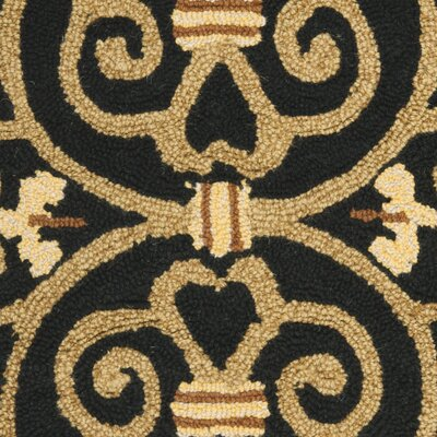 Brayton Black&Iron Gate Area Rug Rug Size: Rectangle 18 x 26