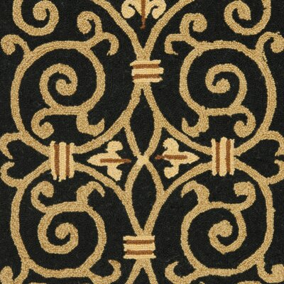 Brayton Black&Iron Gate Area Rug Rug Size: Rectangle 29 x 49
