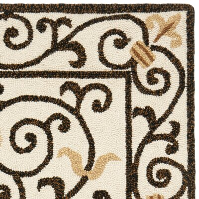 Brayton Ivory/Iron Gate Area Rug Rug Size: Rectangle 29 x 49