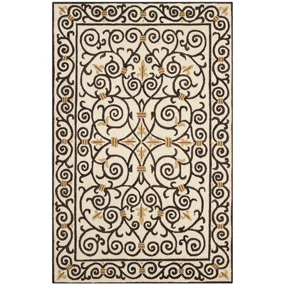 Brayton Ivory/Iron Gate Area Rug Rug Size: Rectangle 53 x 83