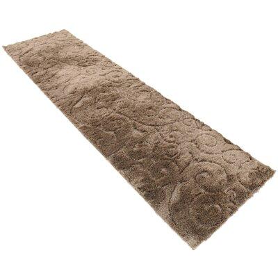 Billings Floral Brown Area Rug Rug Size: Runner 2 x 67