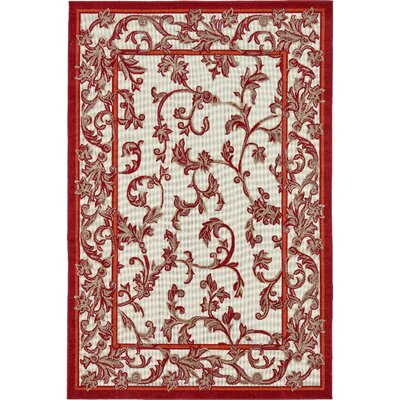 Aukerman Beige Indoor/Outdoor Area Rug Rug Size: Rectangle 4 x 6