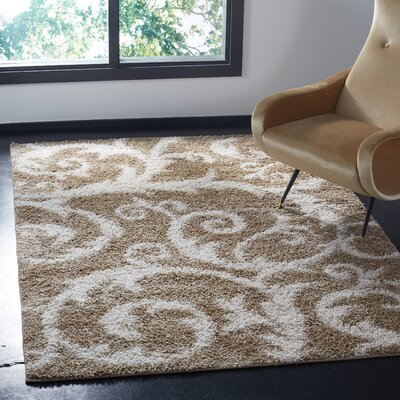 Byrnedale Shag Brown Area Rug� Rug Size: Rectangle 9 x 12