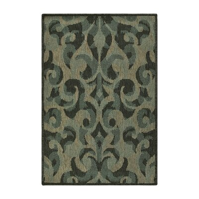 Buchanon Indoor/Outdoor Green/Beige Area Rug Rug Size: Rectangle 2 x 3