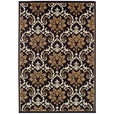 Banning Modern Black/Brown Indoor/Outdoor Area Rug Rug Size: Rectangle 2 x 3