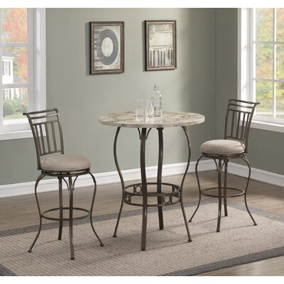 Jannie 3 Piece Pub Table Set