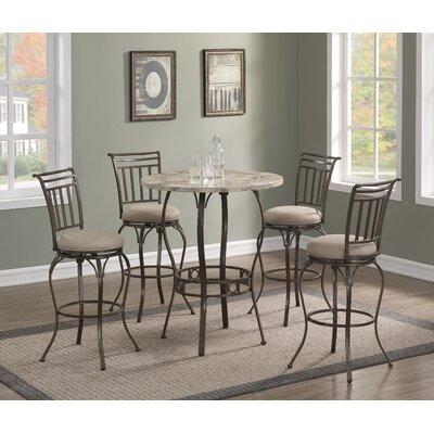 Jannie 5 Piece Pub Table Set