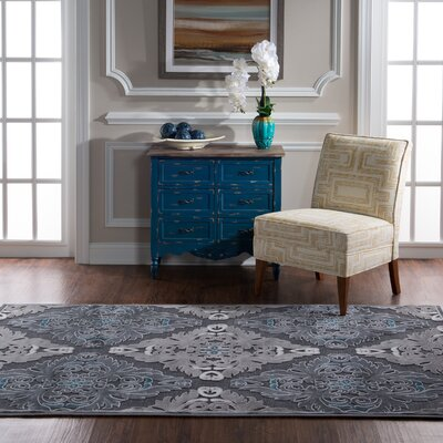 Bradley Junction Medallions Gray Area Rug Rug Size: Rectangle 5 x 76