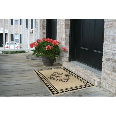 Bradford Anti Shred Treated Non-Skid Entry Monogrammed Double Doormat Letter : E