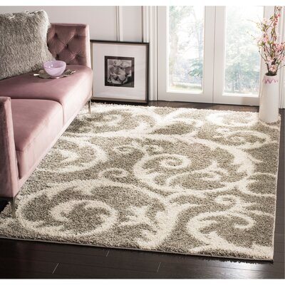 Byrnedale Shag Light Gray Area Rug� Rug Size: Rectangle 4 x 6