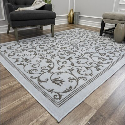 Bender Vines Blue Area Rug Rug Size: Rectangle 5 x 7