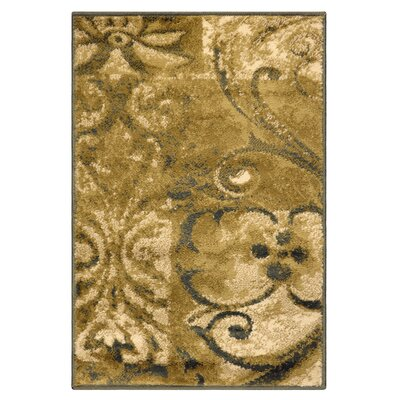 Burbank Scroll Gold Area Rug Rug Size: Rectangle 2 x 3