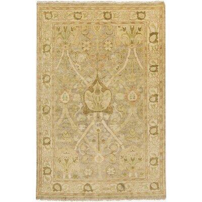 Dellinger Wool Gold Area Rug Rug Size: 2 x 3