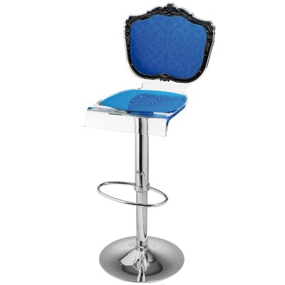 Marley Acrylic Pedestal 46 Swivel Bar Stool Upholstery: Blue