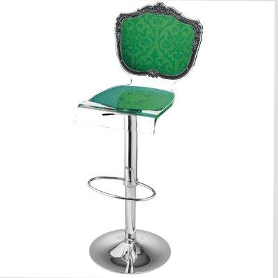 Marley Acrylic Pedestal 46 Swivel Bar Stool Upholstery: Green