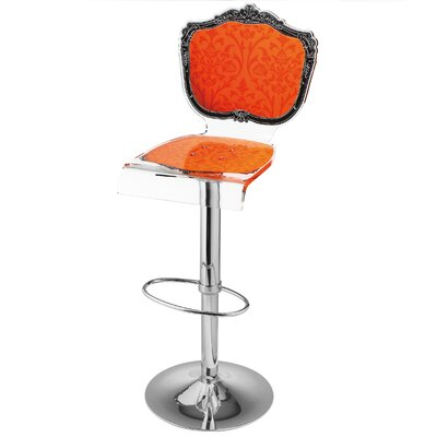 Marley Acrylic Pedestal 46 Swivel Bar Stool Upholstery: Orange