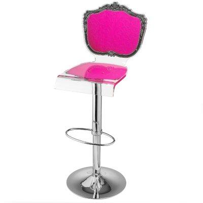 Marley Acrylic Pedestal 46 Swivel Bar Stool Upholstery: Pink