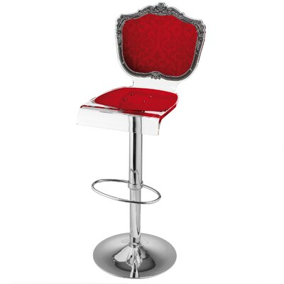 Marley Acrylic Pedestal 46 Swivel Bar Stool Upholstery: Red