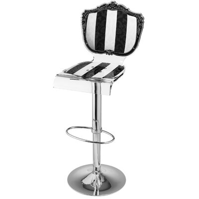 Marley Acrylic Pedestal 46 Swivel Bar Stool Upholstery: Stripe