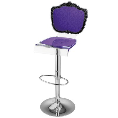 Marley Acrylic Pedestal 46 Swivel Bar Stool Upholstery: Violet