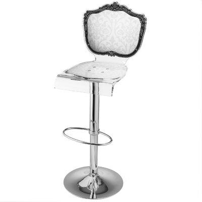 Marley Acrylic Pedestal 46 Swivel Bar Stool Upholstery: White
