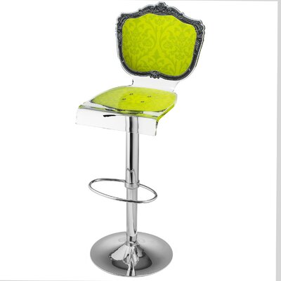 Marley Acrylic Pedestal 46 Swivel Bar Stool Upholstery: Yellow