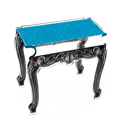 Marley Acrylic Side Tables Finish: Blue