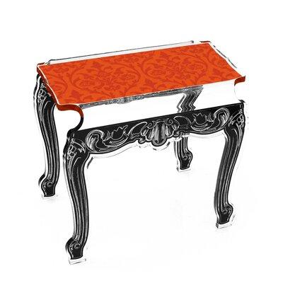Marley Acrylic Side Tables Finish: Orange