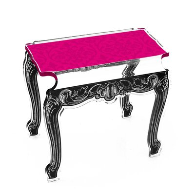 Marley Acrylic Side Tables Finish: Pink