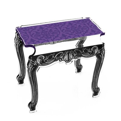 Marley Acrylic Side Tables Finish: Violet