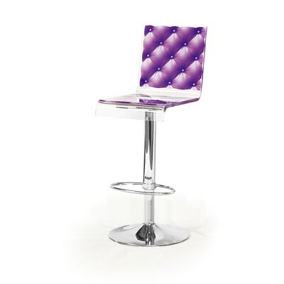 Capiton 45 inch Swivel Bar Stool Upholstery: Violet