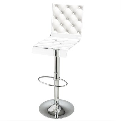 Capiton 45 Swivel Bar Stool Upholstery: White
